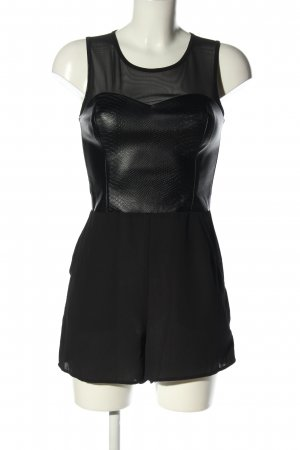 H&M Divided Jumpsuit schwarz Animalmuster extravaganter Stil