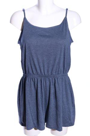 H&M Divided Jumpsuit blau meliert Casual-Look