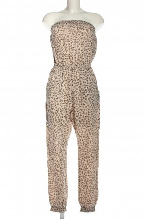 H&M Divided Jumpsuit cream-black allover print casual look