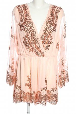 H&M Divided Jumpsuit pink-bronzefarben grafisches Muster Casual-Look