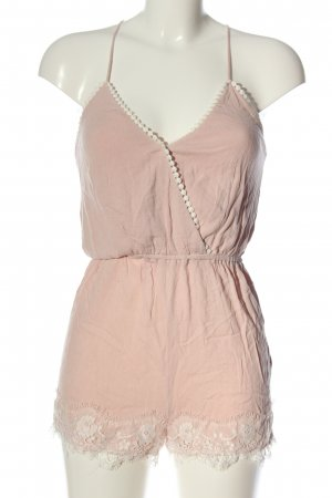 H&M Divided Jumpsuit pink-wollweiß Casual-Look