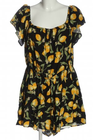 H&M Divided Jumpsuit themed print casual look