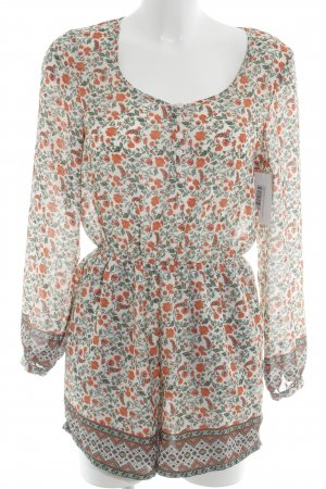 H&M Divided Jumpsuit flower pattern casual look