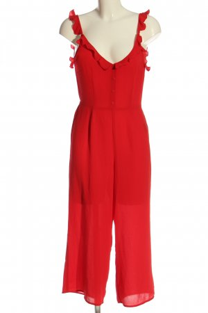 H&M Divided Jumpsuit rot Casual-Look