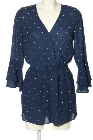 H&M Divided Jumpsuit blau-weiß Punktemuster Casual-Look