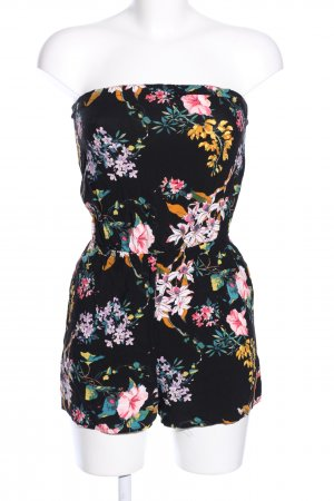 H&M Divided Mono negro estampado floral look casual
