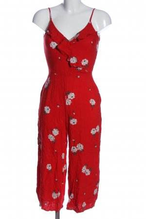 H&M Divided Jumpsuit rot-pink Allover-Druck Casual-Look