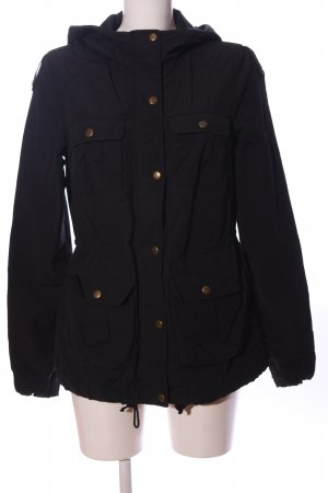 H&M Divided Kapuzenjacke schwarz Casual-Look