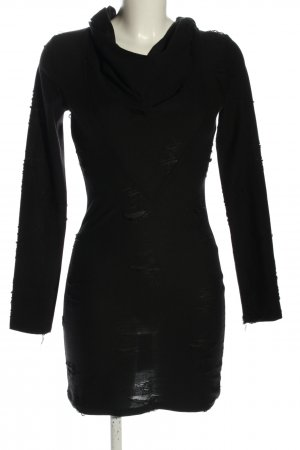 H&M Divided Kapuzenkleid schwarz Business-Look