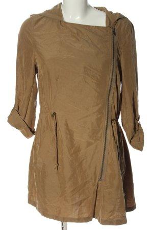 H&M Divided Cappotto con cappuccio marrone stile casual