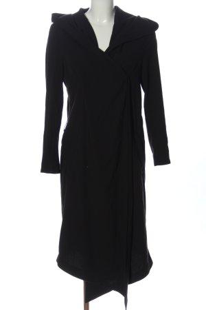 H&M Divided Abrigo con capucha negro elegante