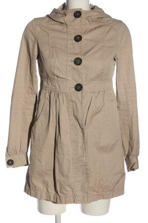 H&M Divided Manteau à capuche blanc cassé style décontracté