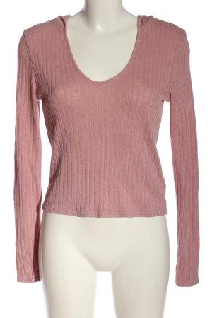 H&M Divided Kapuzenpullover pink Streifenmuster Casual-Look