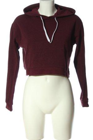 H&M Divided Kapuzensweatshirt rot meliert Casual-Look