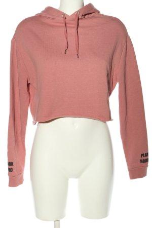 H&M Divided Hooded Sweatshirt pink printed lettering casual look