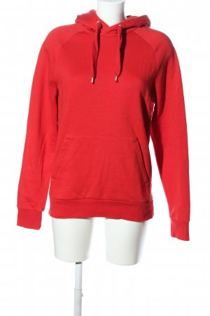 H&M Divided Felpa con cappuccio rosso stile casual