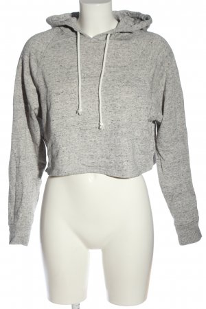 H&M Divided Sudadera con capucha gris claro look casual