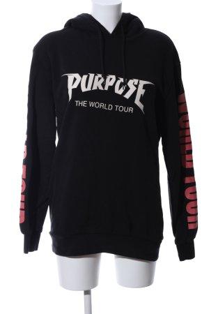 H&M Divided Kapuzensweatshirt Schriftzug gedruckt Casual-Look