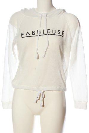 H&M Divided Sweatshirt met capuchon wit gedrukte letters casual uitstraling