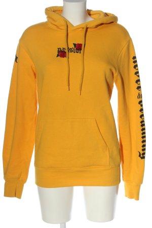 H&M Divided Sweat à capuche jaune primevère lettrage imprimé