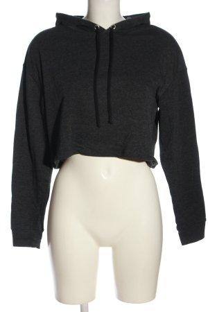 H&M Divided Sweatshirt met capuchon lichtgrijs gestippeld casual uitstraling