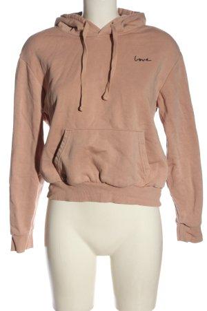 H&M Divided Sweat à capuche rose chair style décontracté