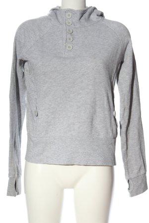 H&M Divided Kapuzensweatshirt hellgrau meliert Casual-Look