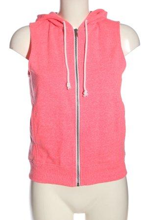 H&M Divided Kamizelka z kapturem różowy Melanżowy W stylu casual