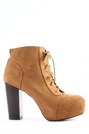 H&M Divided Keil-Stiefeletten hellorange Casual-Look