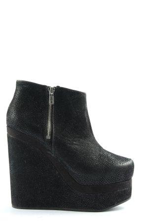 H&M Divided Keil-Stiefeletten schwarz extravaganter Stil