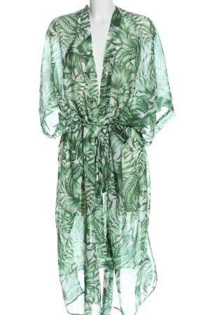 H&M Divided Kimono blanc-vert imprimé allover style décontracté