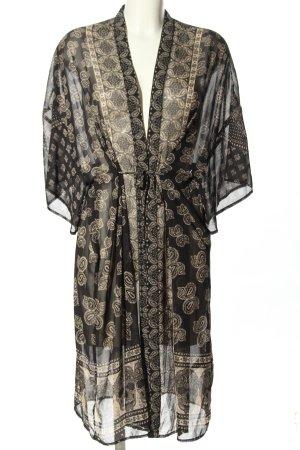 H&M Divided Kimono schwarz-creme Allover-Druck Casual-Look