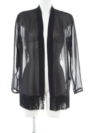 H&M Divided Kimono noir motif graphique élégant