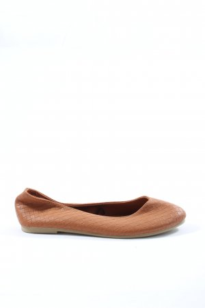 H&M Divided Classic Ballet Flats brown casual look