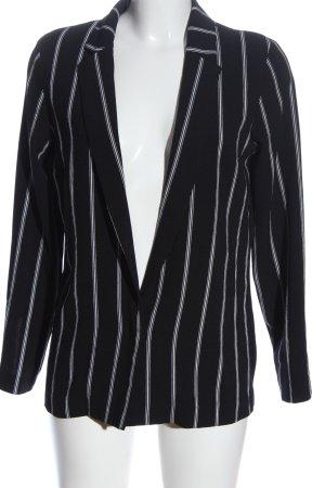 H&M Divided Klassischer Blazer schwarz-weiß Streifenmuster Casual-Look