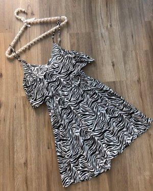 H&M Divided Kleid Sommerkleid Zebra Gr. 34