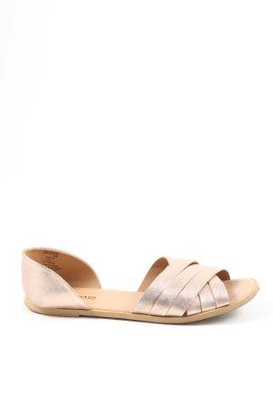H&M Divided Komfort-Sandalen creme Casual-Look