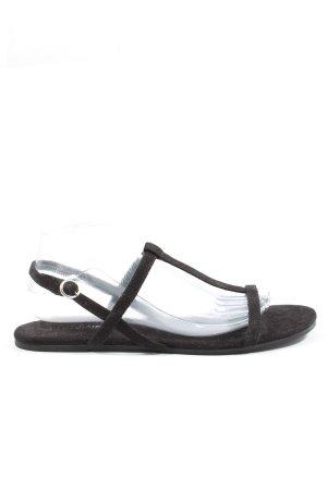 H&M Divided Komfort-Sandalen schwarz Casual-Look