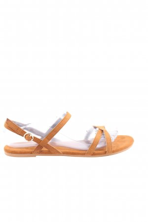 H&M Divided Comfort Sandals light orange casual look