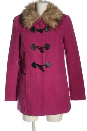 H&M Divided Fake Fur Coat pink casual look