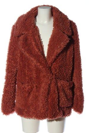 H&M Divided Fake Fur Coat red casual look