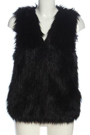 H&M Divided Chaleco de piel sintética negro look casual