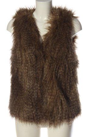 H&M Divided Chaleco de piel sintética marrón look casual