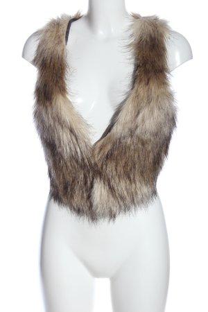 H&M Divided Fake Fur Vest brown casual look