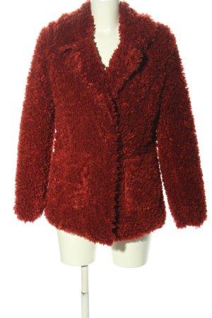 H&M Divided Kurtka z imitacji skóry czerwony W stylu casual