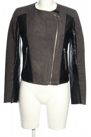 H&M Divided Kurtka z imitacji skóry brązowy-czarny W stylu casual