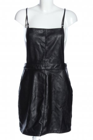 H&M Divided Kunstlederkleid schwarz Casual-Look