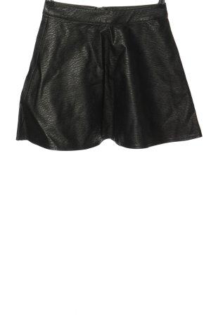 H&M Divided Spódnica z imitacji skóry czarny Ekstrawagancki styl