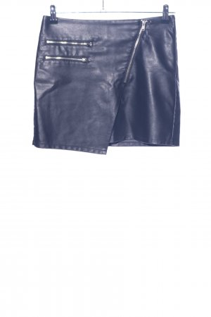 H&M Divided Rok van imitatieleder blauw casual uitstraling