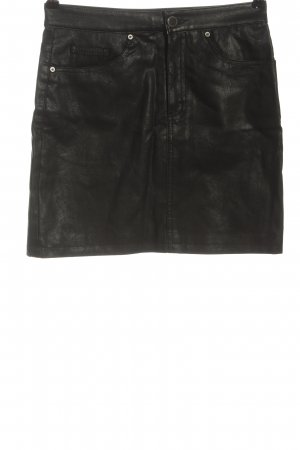 H&M Divided Gonna in ecopelle nero stile casual